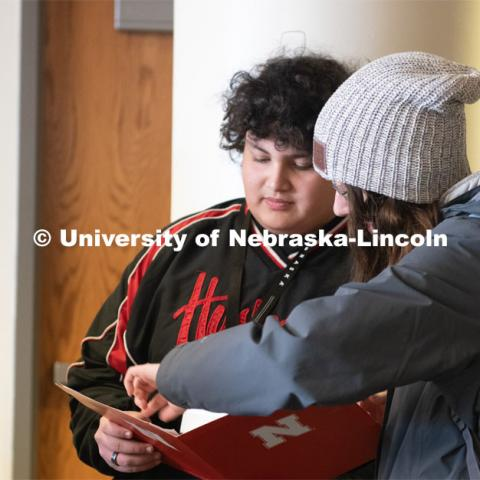 Grand Island Senior High (GISH) students visit UNL. December 18, 2019. Photo by Gregory Nathan / University Communication.