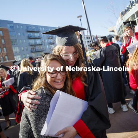 December Undergraduate commencement at Pinnacle Bank Arena. December 21, 2019. Photo by Craig Chandler / University Communication.