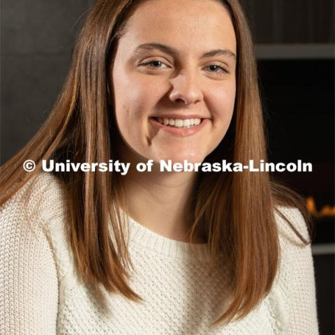 Abby Seibel, a computer engineering major from Elkhorn, NE is one of 10 STEM CONNECT Scholars from UNL. Abby will begin the STEM CONNECT program this spring. March 9, 2020. Photo by Gregory Nathan / University Communication.