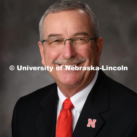 Studio portrait of Charles Hibberd, Dean and Director of Nebraska Extensions, Cooperative Extension Division. March 6, 2020. Photo by Greg Nathan / University Communication.