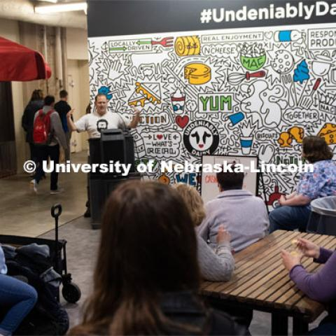 CASNR Week Ice Cream Social, UNL Dairy Store Relocation Celebration. March 12, 2020. Photo by Gregory Nathan / University Communication.