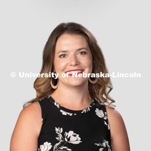 Studio portrait of Morgan Green, Residence Director, Residence Life. July 27, 2020. Photo by Greg Nathan / University Communication.