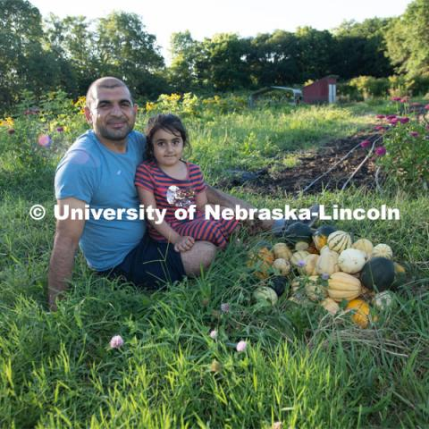 Lincoln families work their garden area at Prairie Pines in east Lincoln. July 27, 2020. Photo by Gregory Nathan / University Communication.