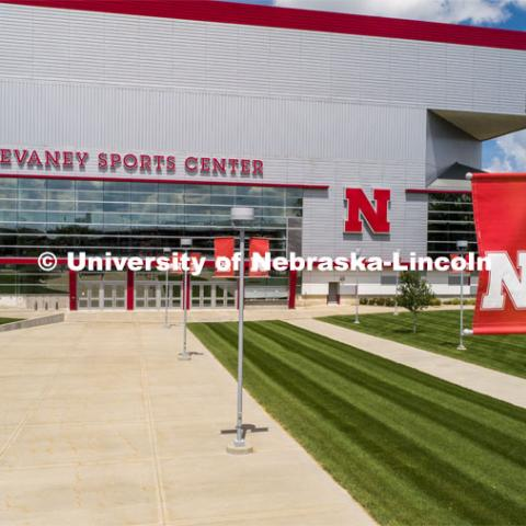 Exterior shots of the Bob Devaney Sports Center. July 31, 2020. Photo by Craig Chandler / University Communication.