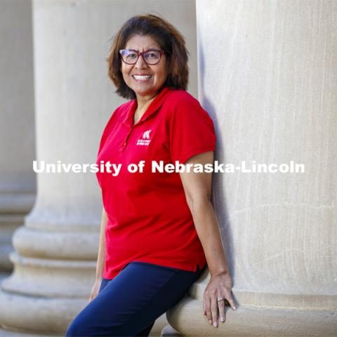 Catia Guerrero, administrative associate in the Department of Child, Youth and Family Studies, is celebrating five years of service with the University of Nebraska–Lincoln. October 13, 2020. Photo by Craig Chandler / University Communication.